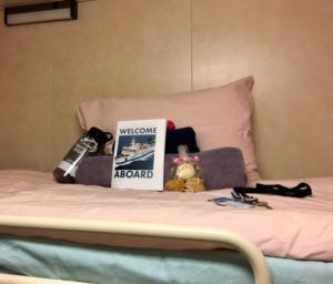 The Welcome Package on Jill's Bunk