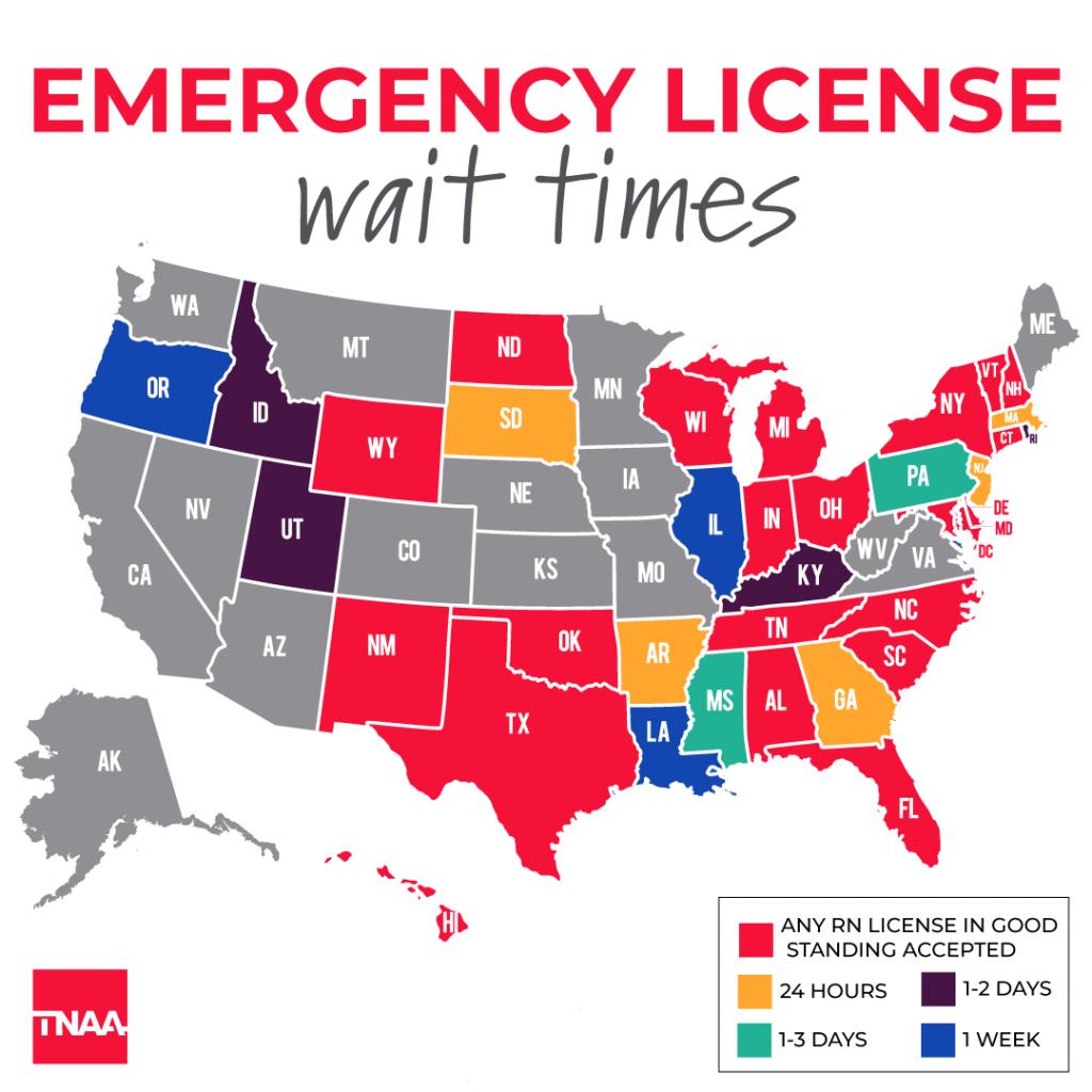 nurse licensure covid 19