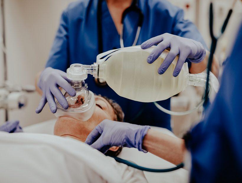 travel nurse with patient